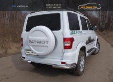 UAZ Patriot 2015-Защита задняя (уголки двойные) 76,1/42,4 мм /арт.809-18