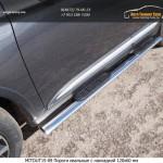 Пороги овальные с накладкой 120х60 мм Mitsubishi Outlander 2015