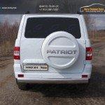 UAZ Patriot 2015-Защита задняя (овальная) 120х60 мм