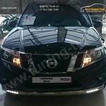 Защита передняя нижняя (овальная (с ходовыми огнями)) 75х42 мм Nissan Terrano 2014+