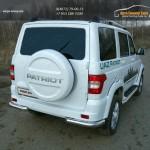 UAZ Patriot 2015-Защита задняя (уголки) 76,1 мм