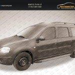 """Пороги алюминиевые """"Luxe Black"""" 2100 черные Lada Largus 2012+"""