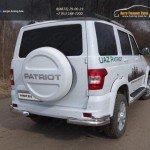 UAZ Patriot 2015-Защита задняя (уголки двойные) 76,1/42,4 мм
