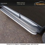 Пороги с площадкой (нерж. лист) 42,4 мм Mitsubishi Outlander 2015