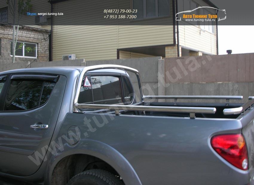 Защита кузова d60+d42 MITSUBISHI L-200 2013+/арт.813
