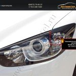 Накладки на передние фары (реснички) Mazda CX-5 2011+