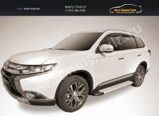 """Пороги алюминиевые """"Optima Silver"""" 1700 серебристые Mitsubishi Outlander 2015/арт.812-14"""