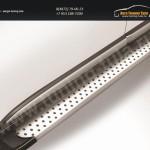 """Пороги алюминиевые """"Standart Silver"""" 1700 серебристые CX-5 2011+"""