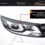 Накладки на передние фары (реснички) Volkswagen Tiguan 2011+