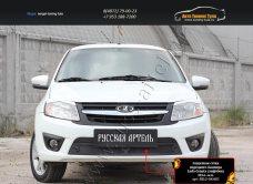 Защитная сетка переднего бампера Lada Granta лифтбек 2014+/арт.814-1