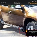 Пороги металлические. Вариант 2 Renault Duster 2015+