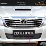 Защитная сетка переднего бампера Toyota Hilux 2011-2013