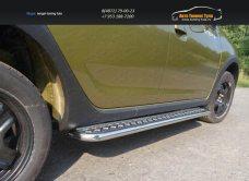 Пороги с площадкой 42,4 мм Renault Sandero Stepway 2014+/арт.817-4