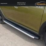 Пороги алюминиевые с пластиковой накладкой 1720 мм Renault Sandero Stepway 2014+