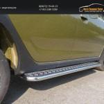 Пороги с площадкой 42,4 мм Renault Sandero Stepway 2014+
