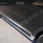 Пороги овальные с накладкой 75х42 мм Kia SORENTO 2015+