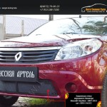 Защитная сетка переднего бампера Renault Sandero 2009-2013