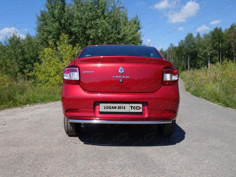 Защита задняя 42,4 мм Renault Logan 2015+/арт.816-3