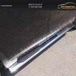 Пороги овальные с накладкой 120х60 мм Kia SORENTO 2015+
