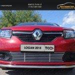 Решетка радиатора нижняя 12 мм Renault Logan 2015+