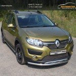 Защита передняя нижняя 60,3 мм+решетки и пороги Renault Sandero Stepway 2014+/арт.817-1