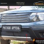 Защитная сетка переднего бампера (с обвесом без дхо) Renault Duster 2010-2014