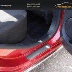 Накладки на пороги (лист шлифованный задние 2 шт.) Renault Sandero Stepway 2014+