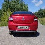 Защита задняя 42,4 мм Renault Logan 2015+
