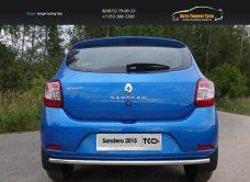 Защита задняя нижняя 42,4 мм Renault Sandero 2014+/арт.817-16