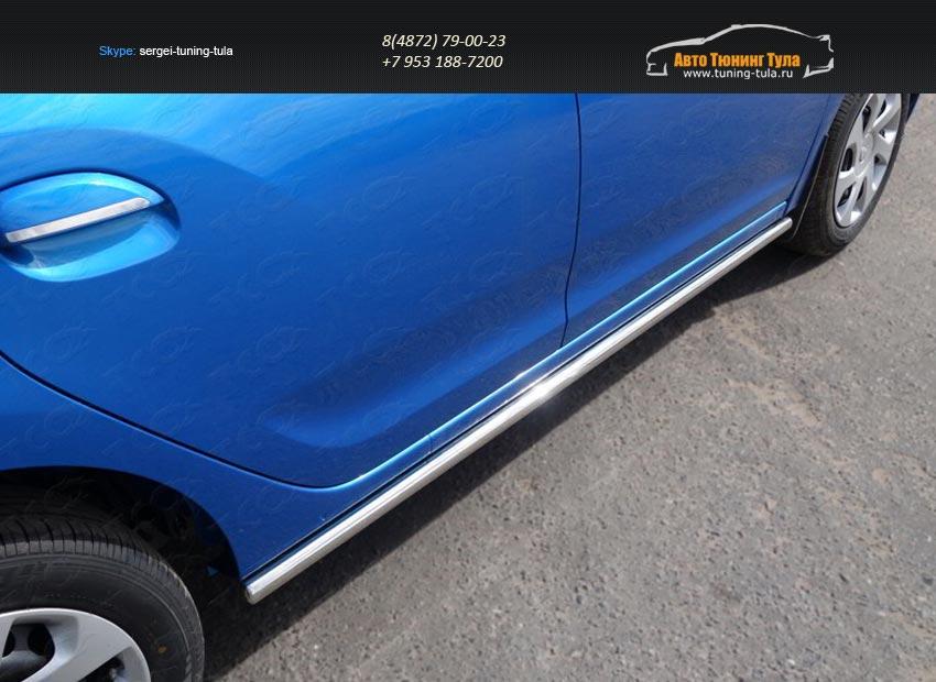 Пороги труба 42,4 мм Renault Sandero 2014+/арт.817-15
