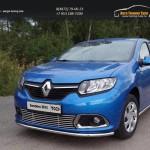 Решётка радиатора нижняя 12 мм Renault Sandero 2014+