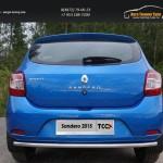 Защита задняя нижняя 42,4 мм Renault Sandero 2014+
