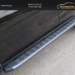 Пороги алюминиевые с пластиковой накладкой (карбон серебро) 1820 мм MITL20015-11SL Mitsubishi L200 2015+/арт.819-12