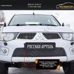 Зимняя заглушка решетки переднего бампера Mitsubishi L200 2010-2013