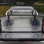 Защитный алюминиевый вкладыш в кузов автомобиля (комплект) Mitsubishi L200 2015+/арт.819-21