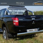 Защита задняя центральная 120х60 мм Mitsubishi L200 2015+/арт.819-15