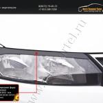 Накладки на передние фары (реснички) Skoda Rapid 2012+