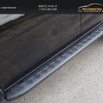 Пороги алюминиевые с пластиковой накладкой (карбон черные) 1820 мм код MITL20015-11BL Mitsubishi L200 2015+/арт.819-13