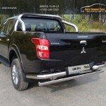 Защита кузова 76,1 мм со светодиодной фарой Mitsubishi L200 2015+/арт.819-18