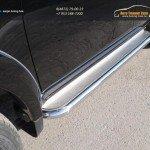 Пороги с площадкой (нерж. лист) 60,3 мм Mitsubishi L200 2015+/арт.819-9