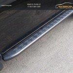 Пороги алюминиевые с пластиковой накладкой (карбон серые) 1820 мм MITL20015-11GR Mitsubishi L200 2015+/арт.819-11
