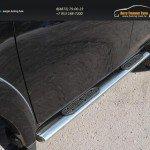Пороги овальные с накладкой 120х60 мм Mitsubishi L200 2015+/арт.819-7