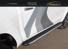 Пороги алюминиевые с пластиковой накладкой (карбон серебро) 1920 мм TOYHILUX15-12SLToyota Hilux 2015/арт.820-15
