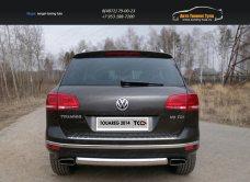 Защита задняя (овальная) 75х42 мм Volkswagen Touareg 2014+/арт.820-26