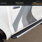 Пороги алюминиевые с пластиковой накладкой 1920 мм TOYHILUX15-12AL Toyota Hilux 2015/арт.820-14