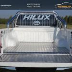 Защитный алюминиевый вкладыш в кузов автомобиля (дно, борт)+Защита кузова и заднего стекла 76,1 ммToyota Hilux 2015 /арт.820-8