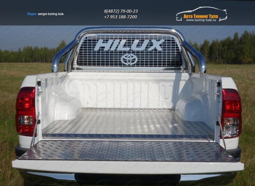 Защита кузова и заднего стекла 76,1 мм Toyota Hilux 2015 /арт.820-9