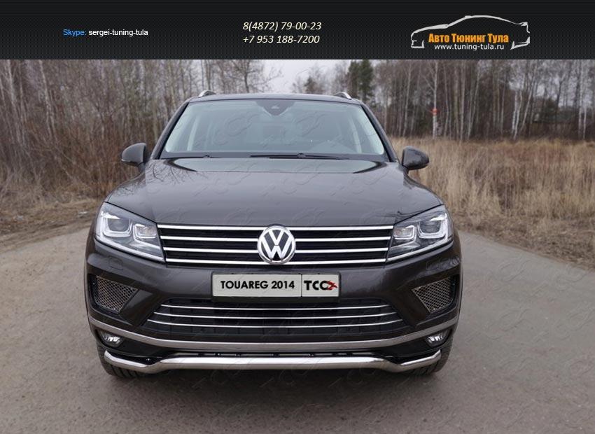 Защита передняя нижняя (кенгурин) 60,3 мм Volkswagen Touareg 2014+/арт.820-23