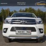 Защита передняя нижняя (с ДХО) 76,1 мм Toyota Hilux 2015 /арт.820-3