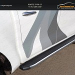 Пороги алюминиевые с пластиковой накладкой (карбон серебро) 1920 мм TOYHILUX15-12SLToyota Hilux 2015